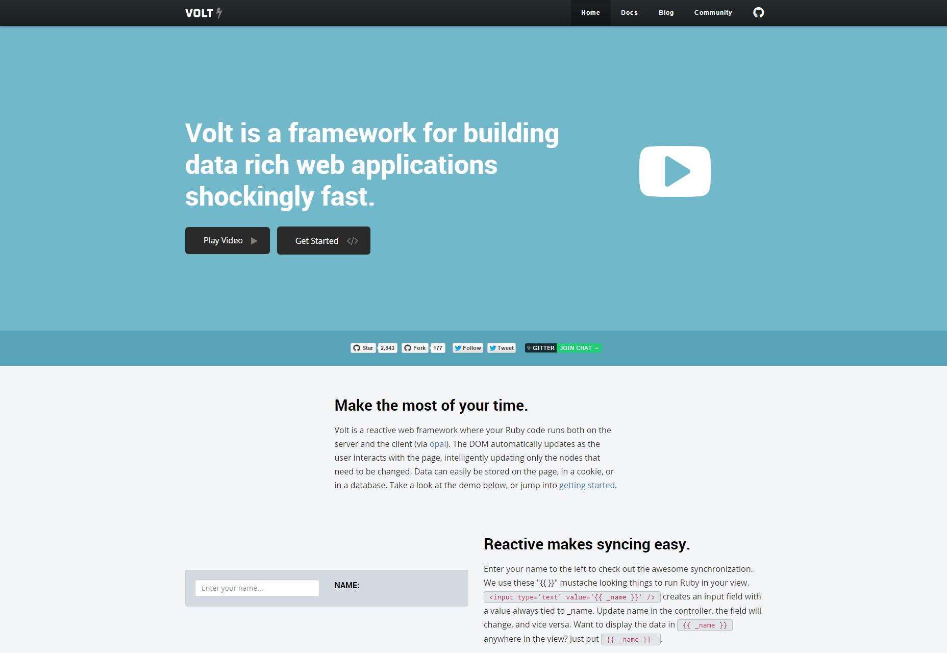Volt: Marco de aplicaciones web ricas en datos reactivos