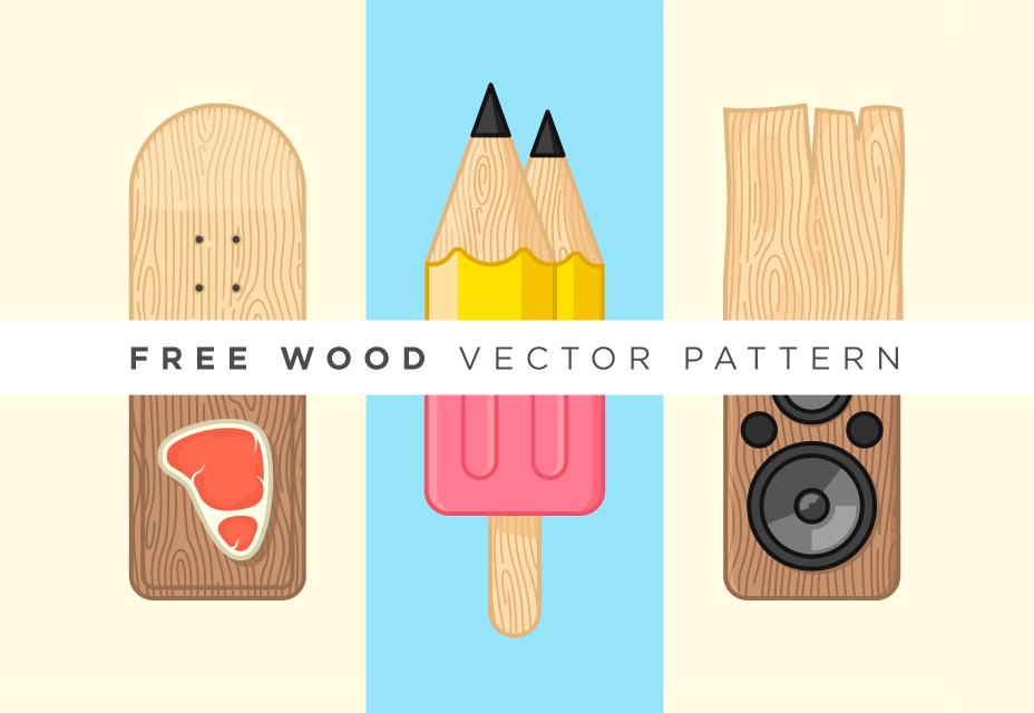 Patrón de madera del vector