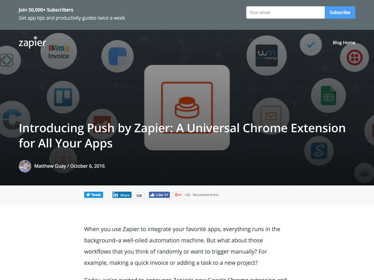 Push by Zapier