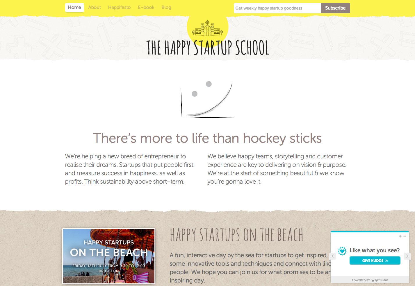 la escuela de inicio feliz