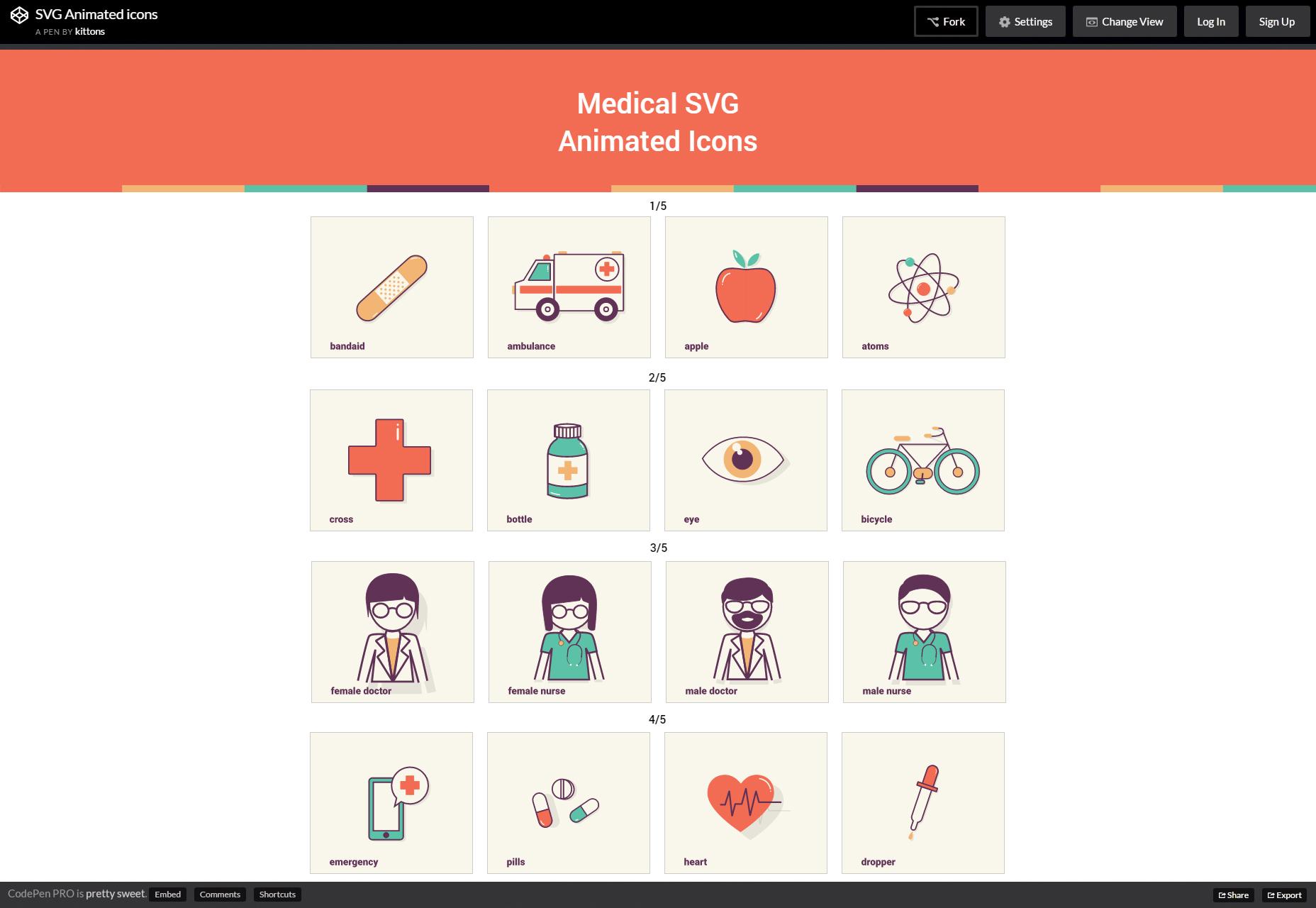 Animované lékařské ikony SVG