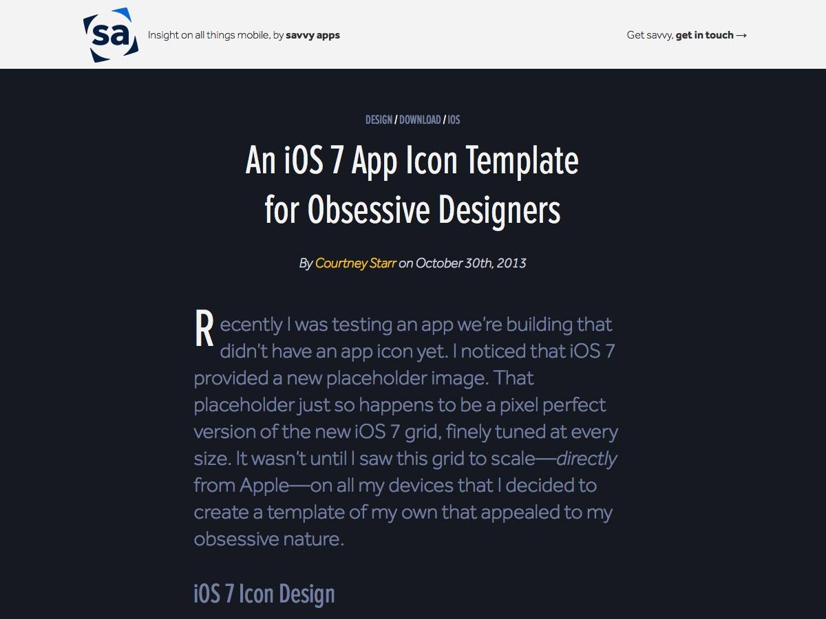 plantilla de icono de la aplicación ios7