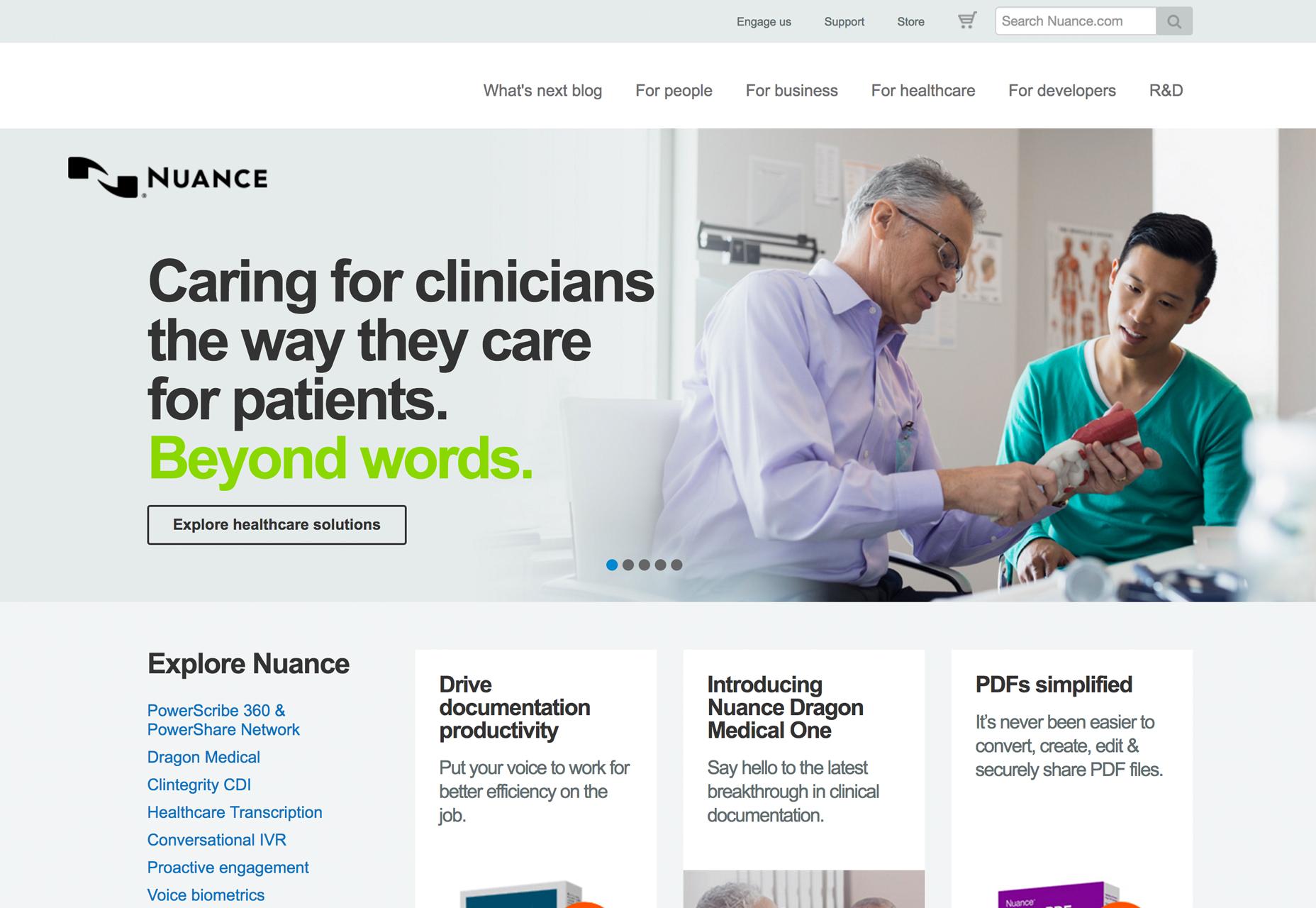 startup-web-design-inspiration-nuance-medical