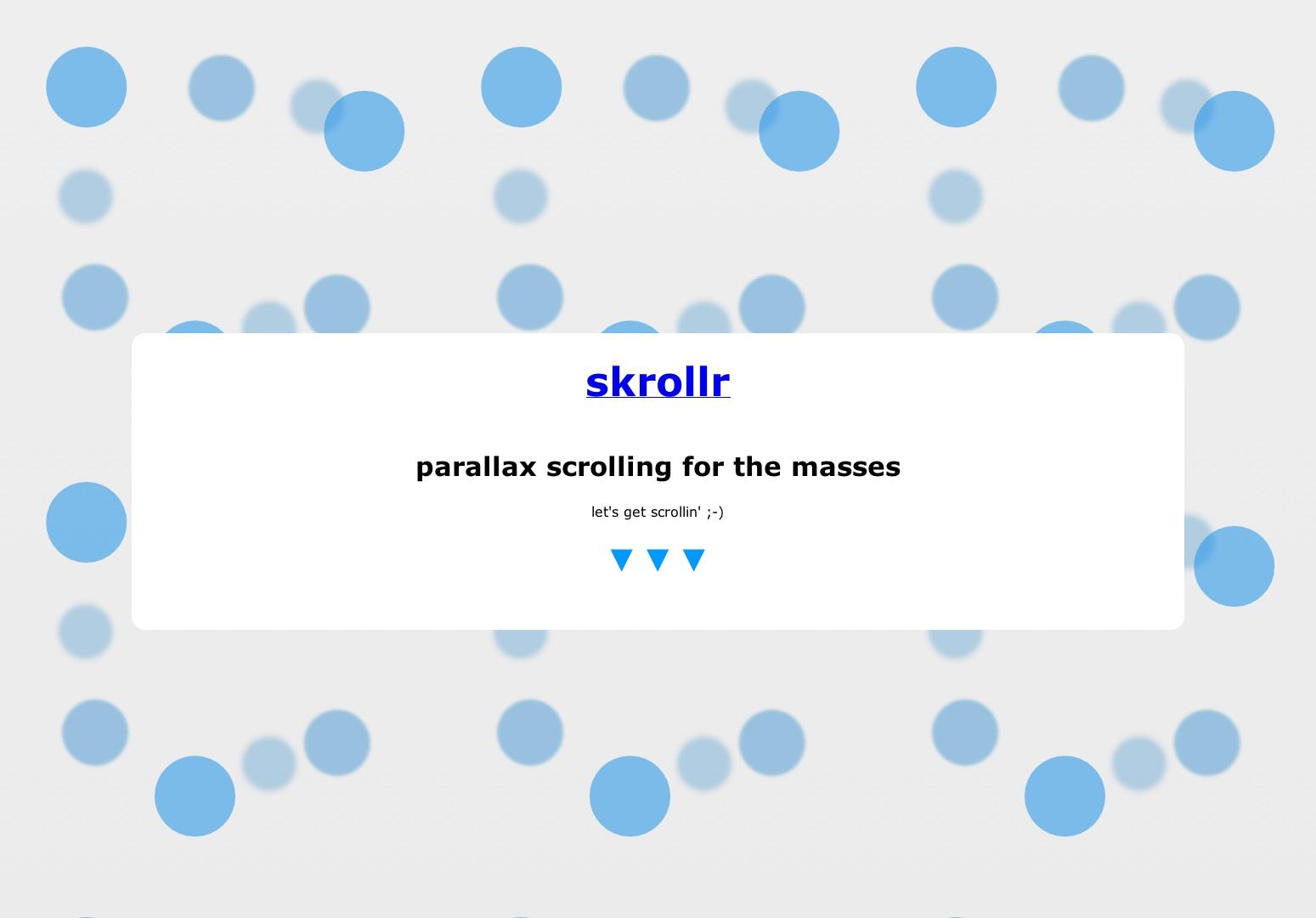skroller - paralaxní rolování pro masy