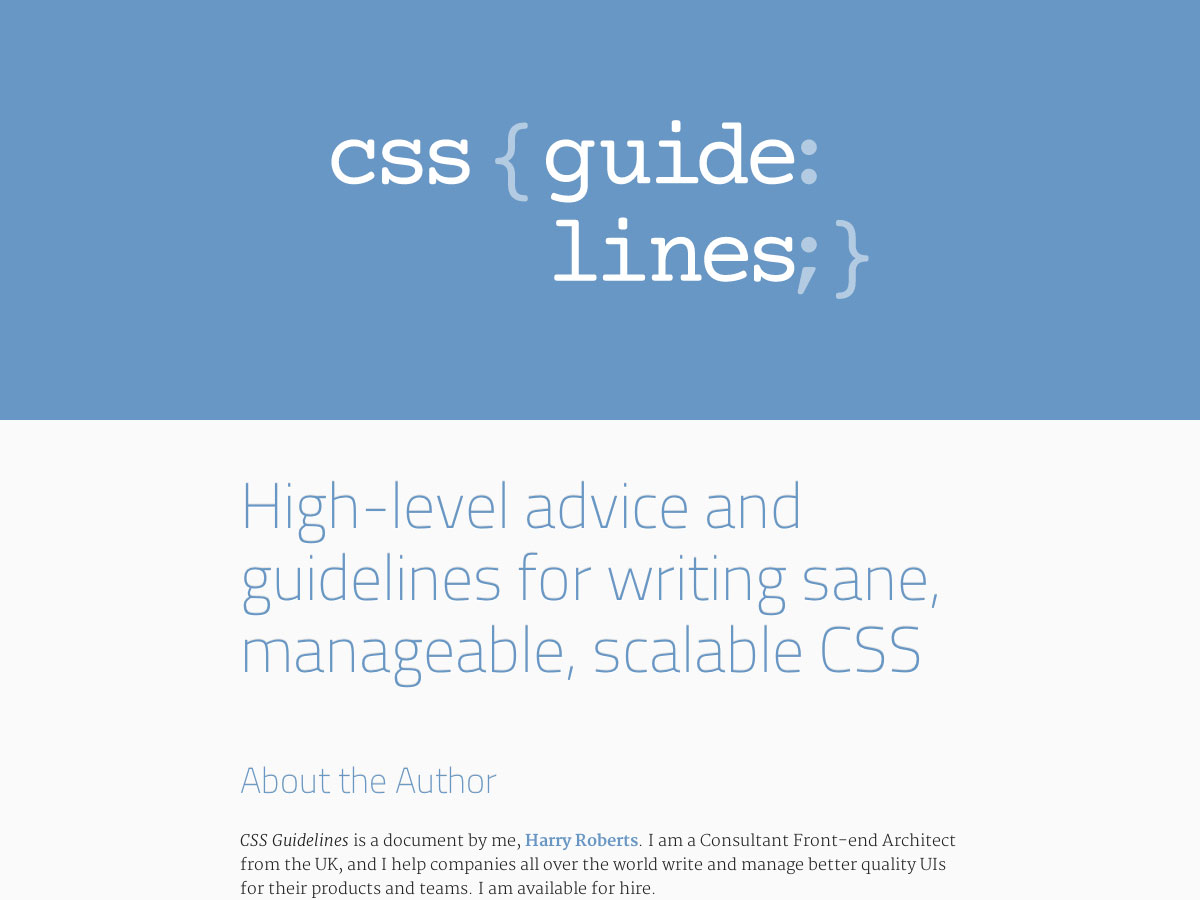 directrices css