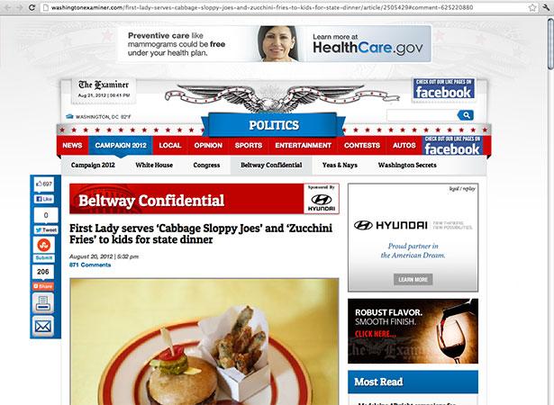 Washington Examiner article