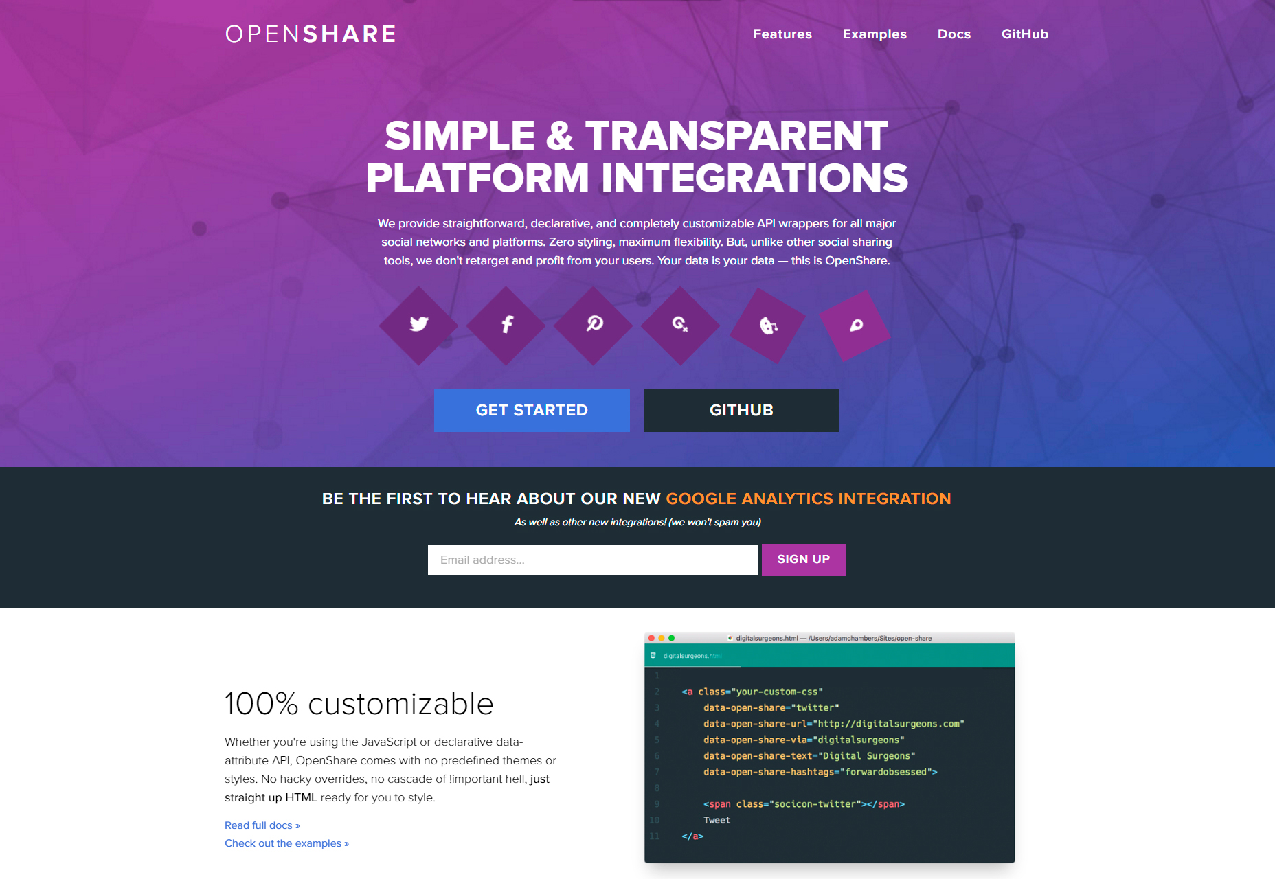 OpenShare: aanpasbare Social Platforms API Wrappers