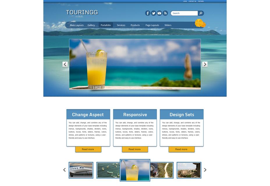 Tema de WordPress de turismo