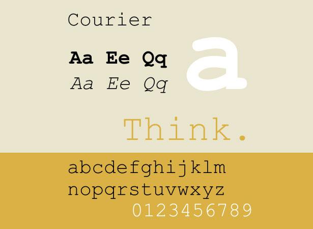 Courier Font