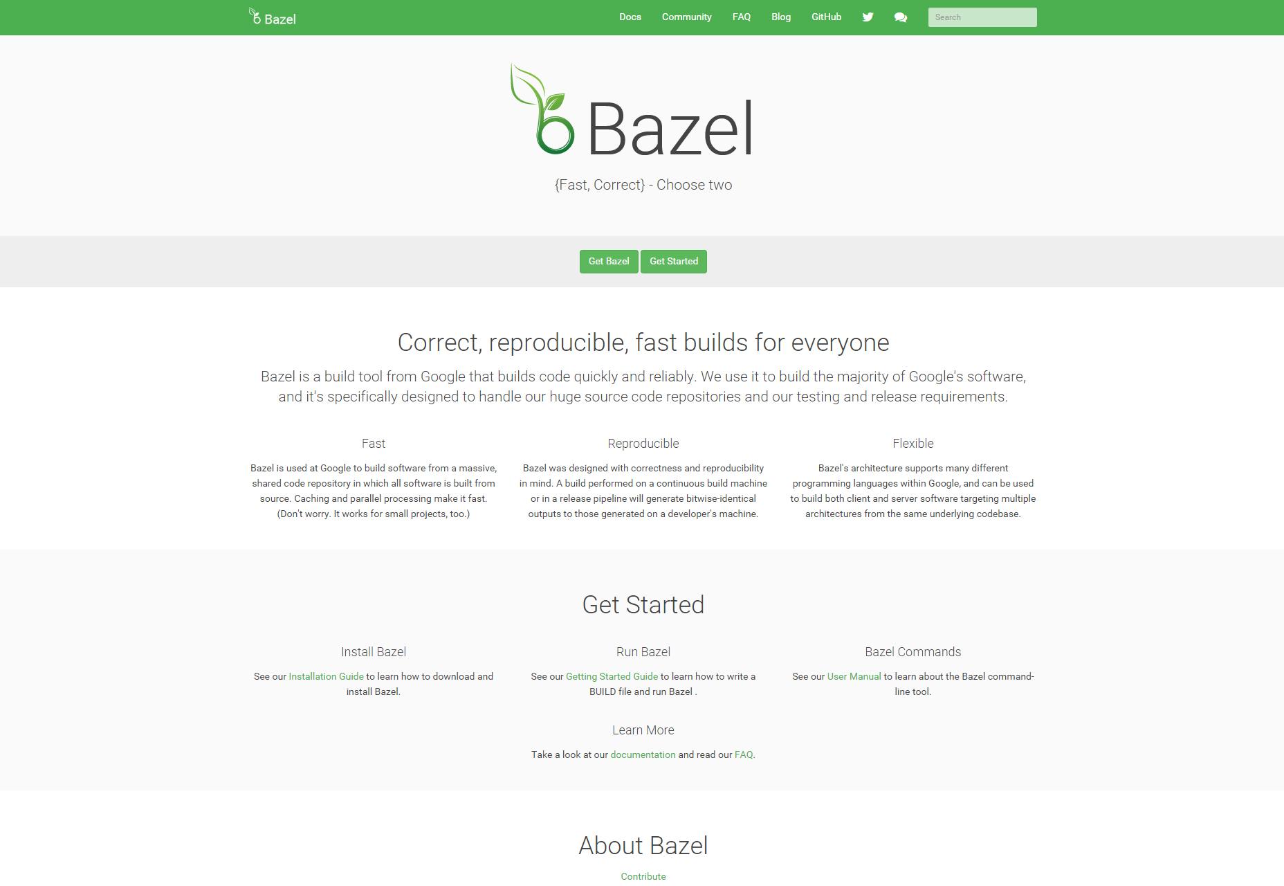 Bazel: constructor de código rápido y confiable