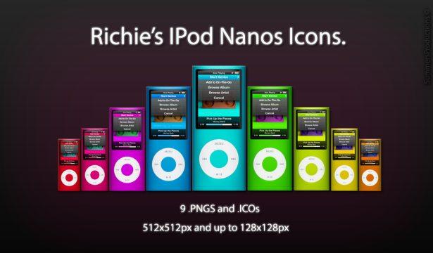 Los iconos de iPod Nano de Richie