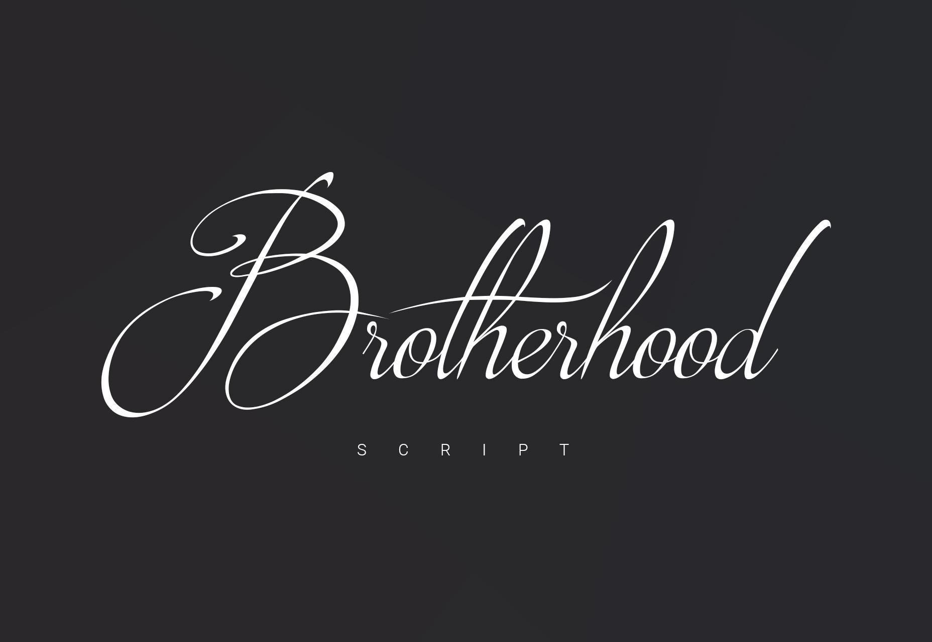 Brotherhood: Fancy Script-letterbeeld