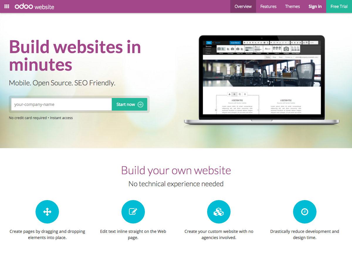 sitio web de odoo