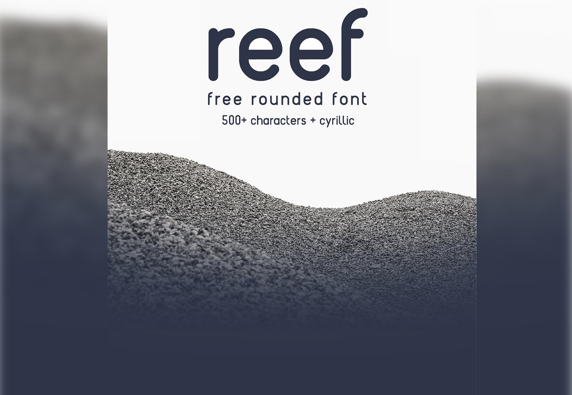 Rif: ronde rand letterbeeld