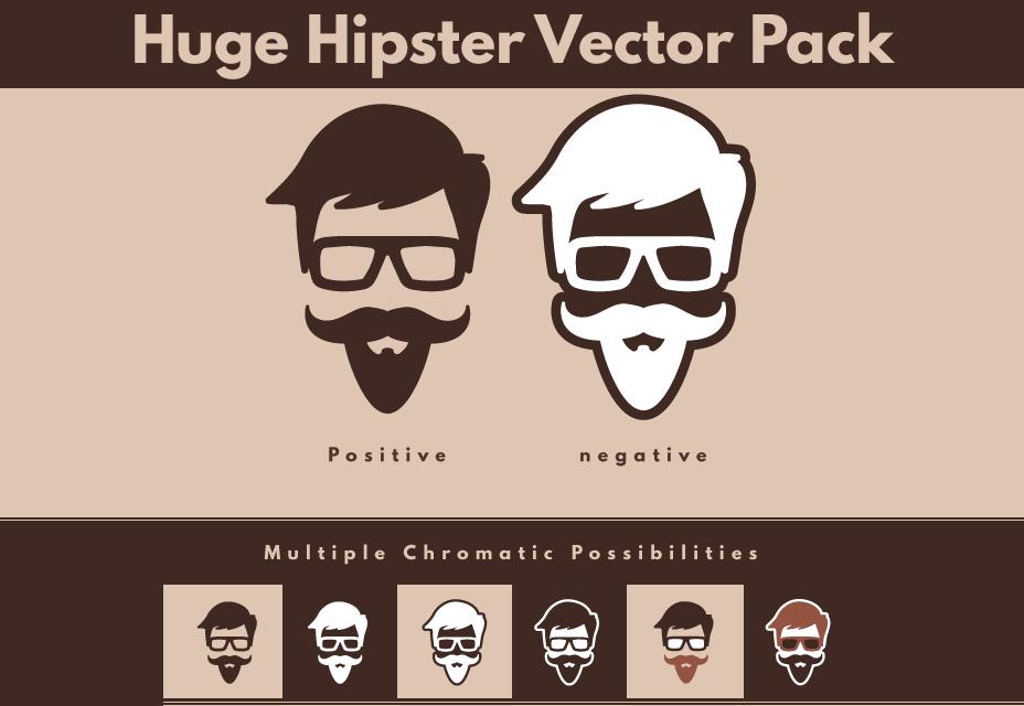 100 diseños de vectores Hipster gratis