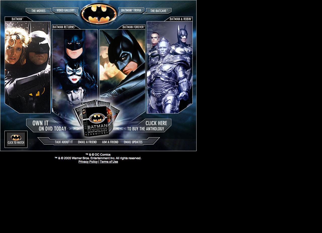 Batman The Motion Picture Anthology 1989-1997