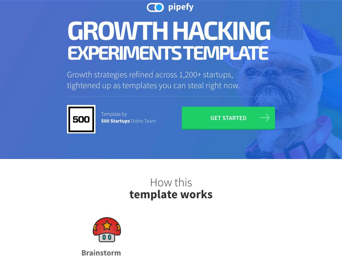 plantilla de experimentos de hacking de crecimiento