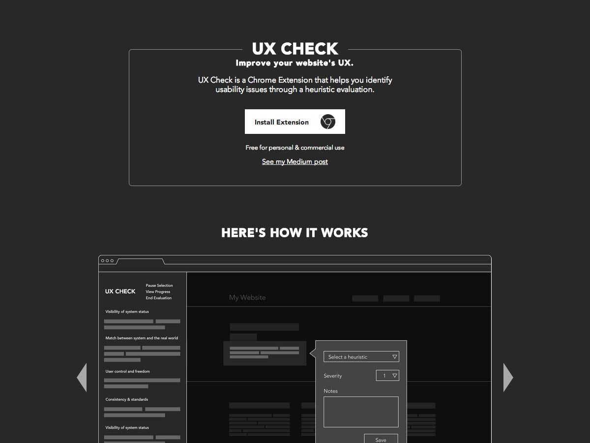 cheque ux