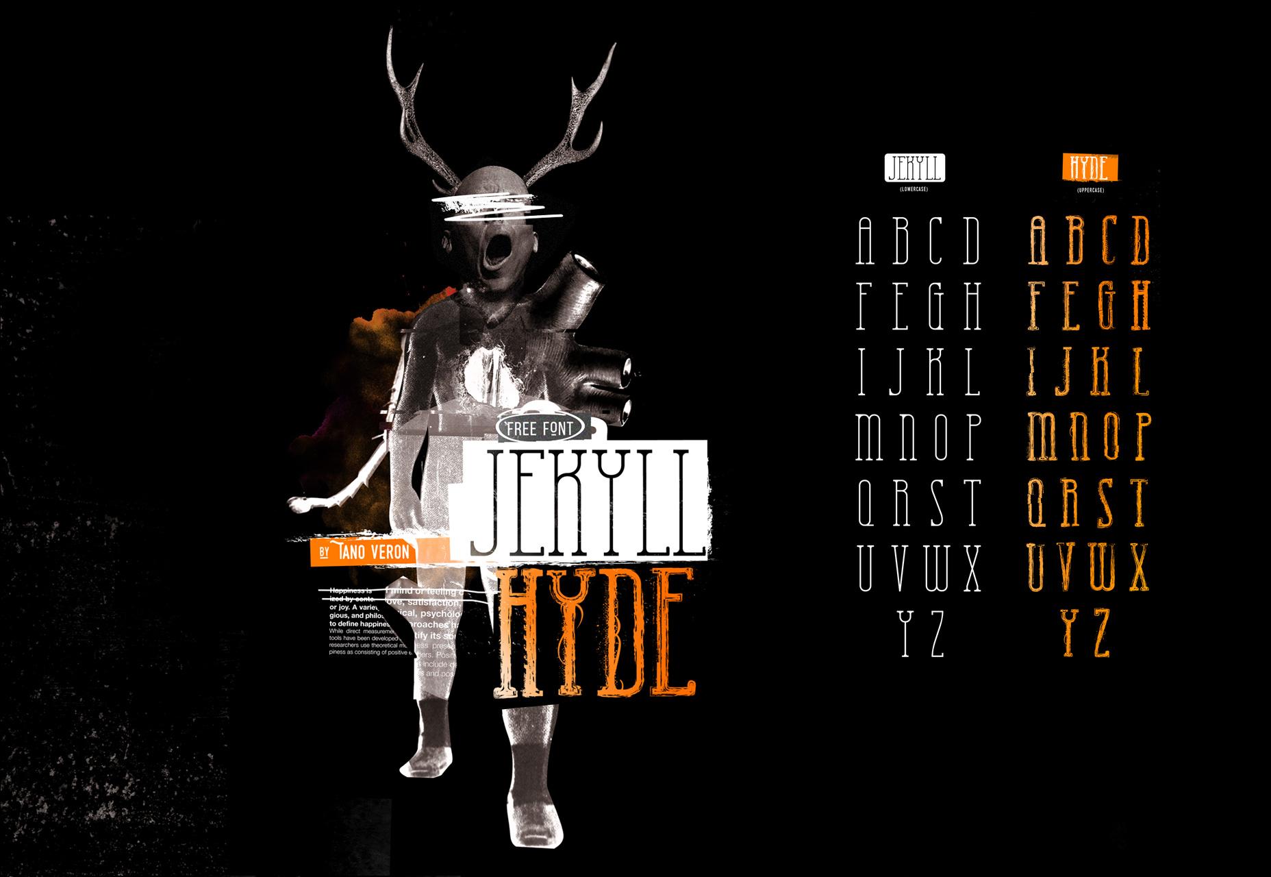 Jekyll Hyde: una fuente de estilo dual inspirada en la novela