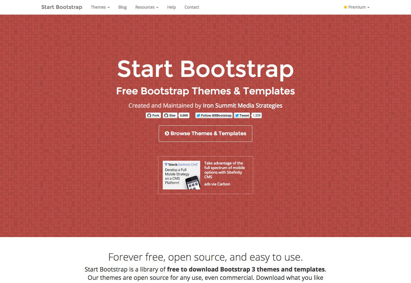 start bootstrap