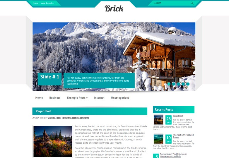 Brick WordPress Theme