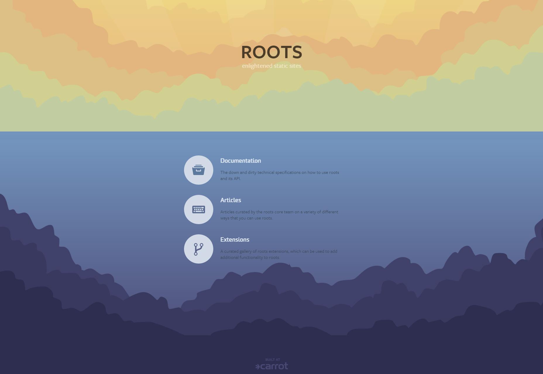 Roots: Generador de sitios front-end estáticos