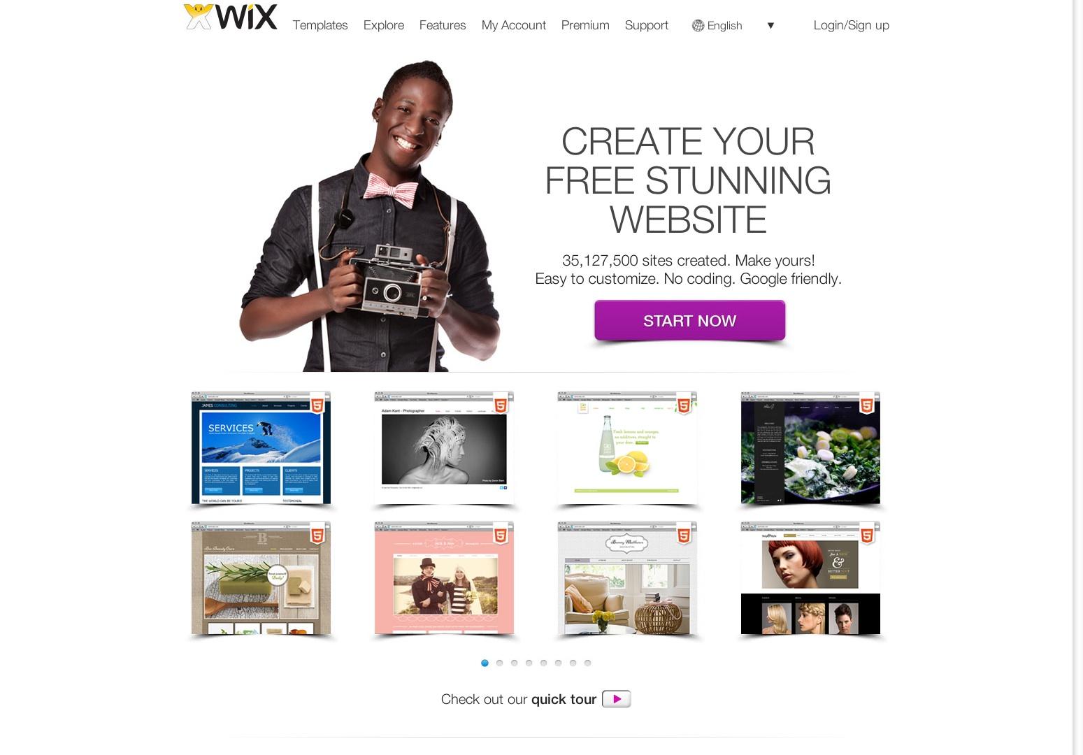 Constructor de sitios web gratis | Crea un sitio web gratis | WIX