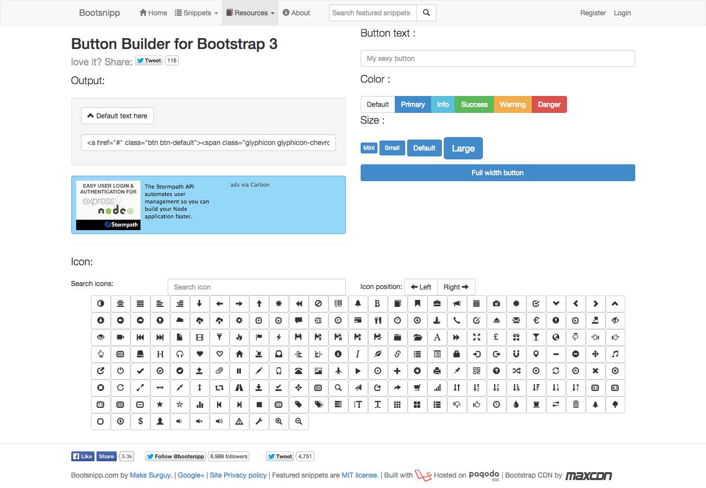 bootsnip button builder