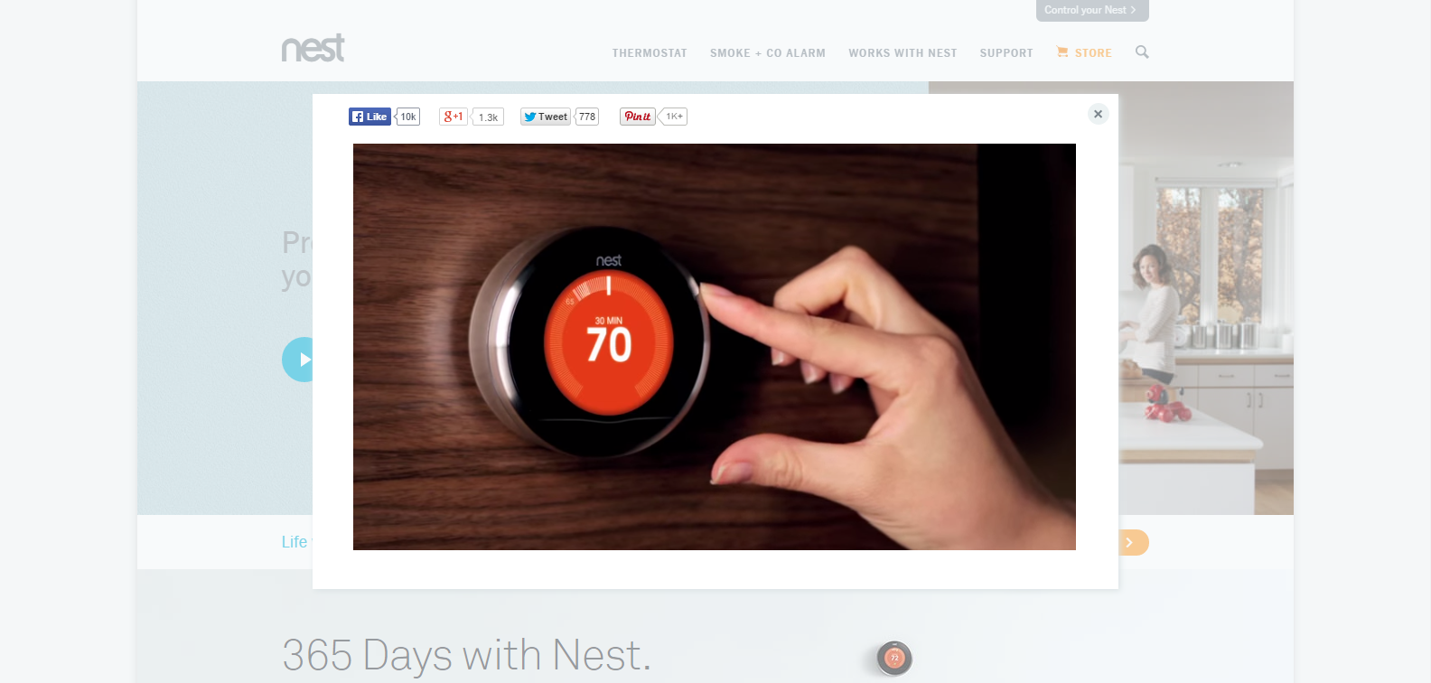 Nest Termostat video