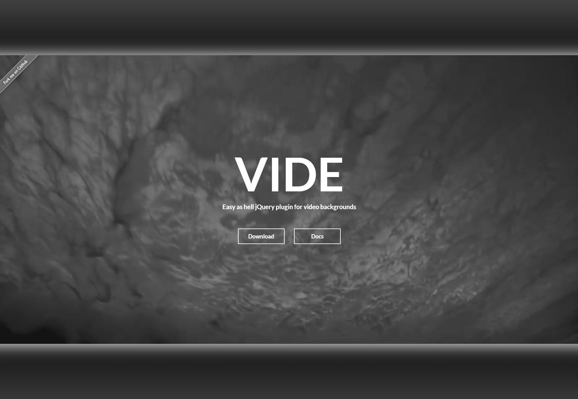 Vide: complemento de jQuery de fondo de video