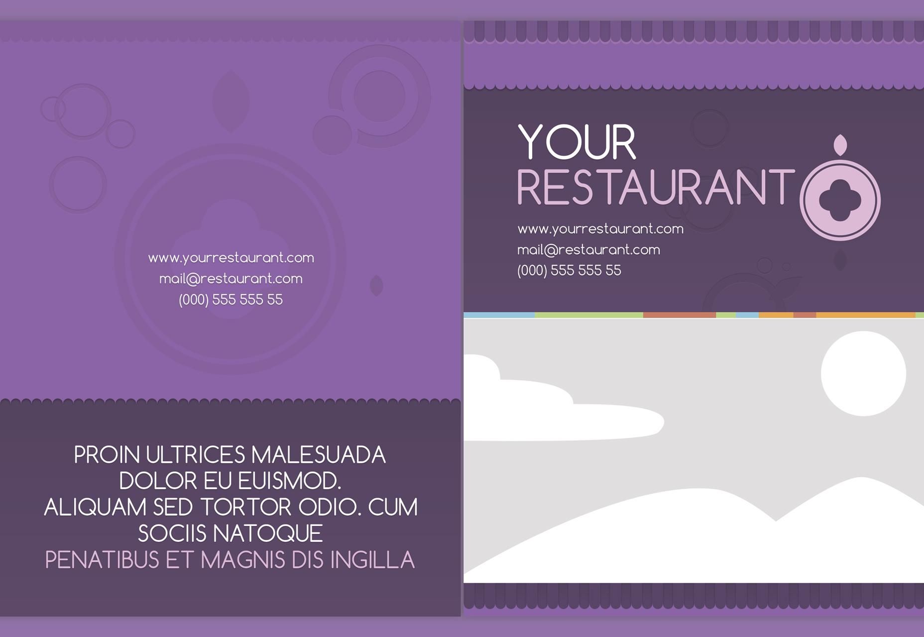 Picnic: Vector lavendel menusjabloon