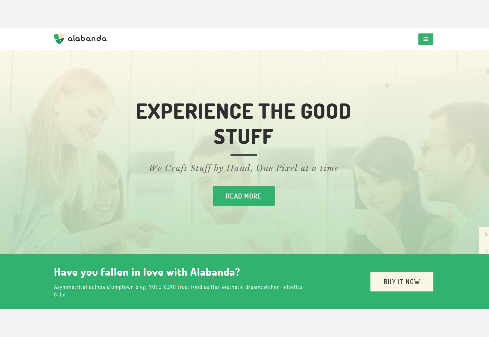Alabanda: Business Sketch y HTML Theme