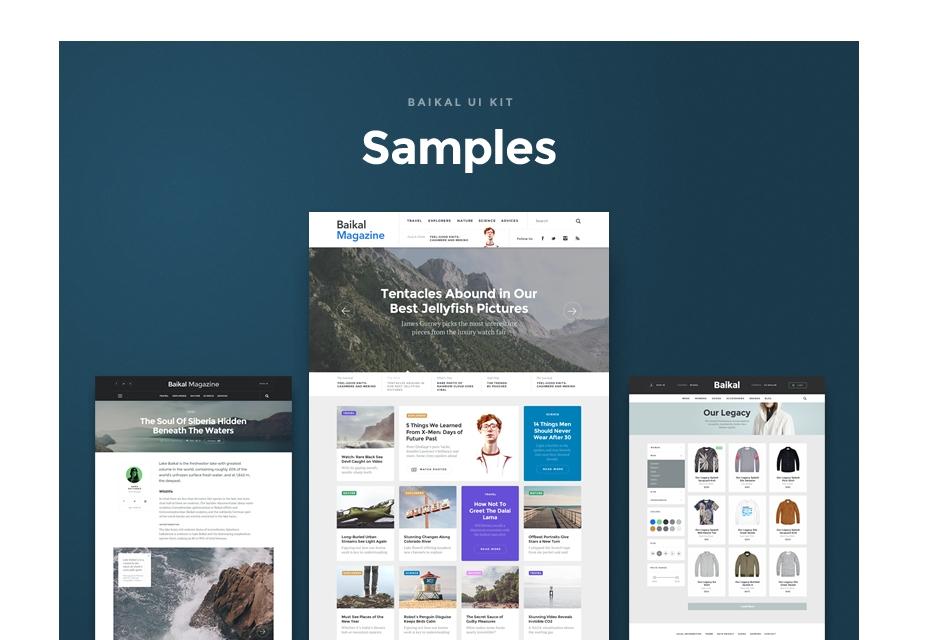 Baikal UI Kit: muestras