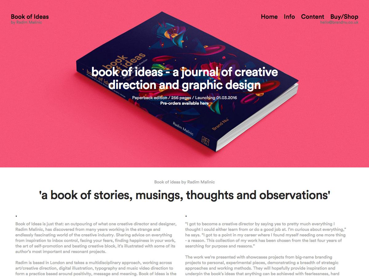 boek met ideeën