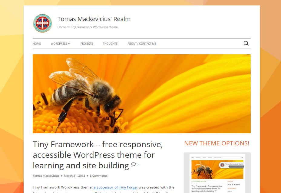 Tiny Framework: responsief en lichtgewicht WordPress-thema