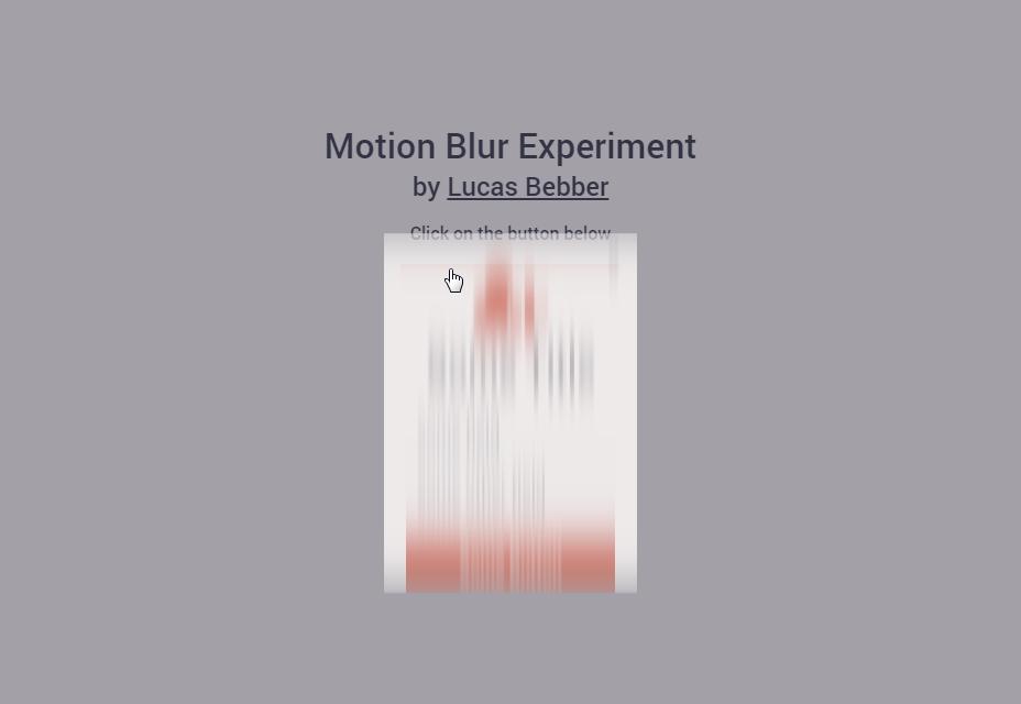 Motion Blur Experiment