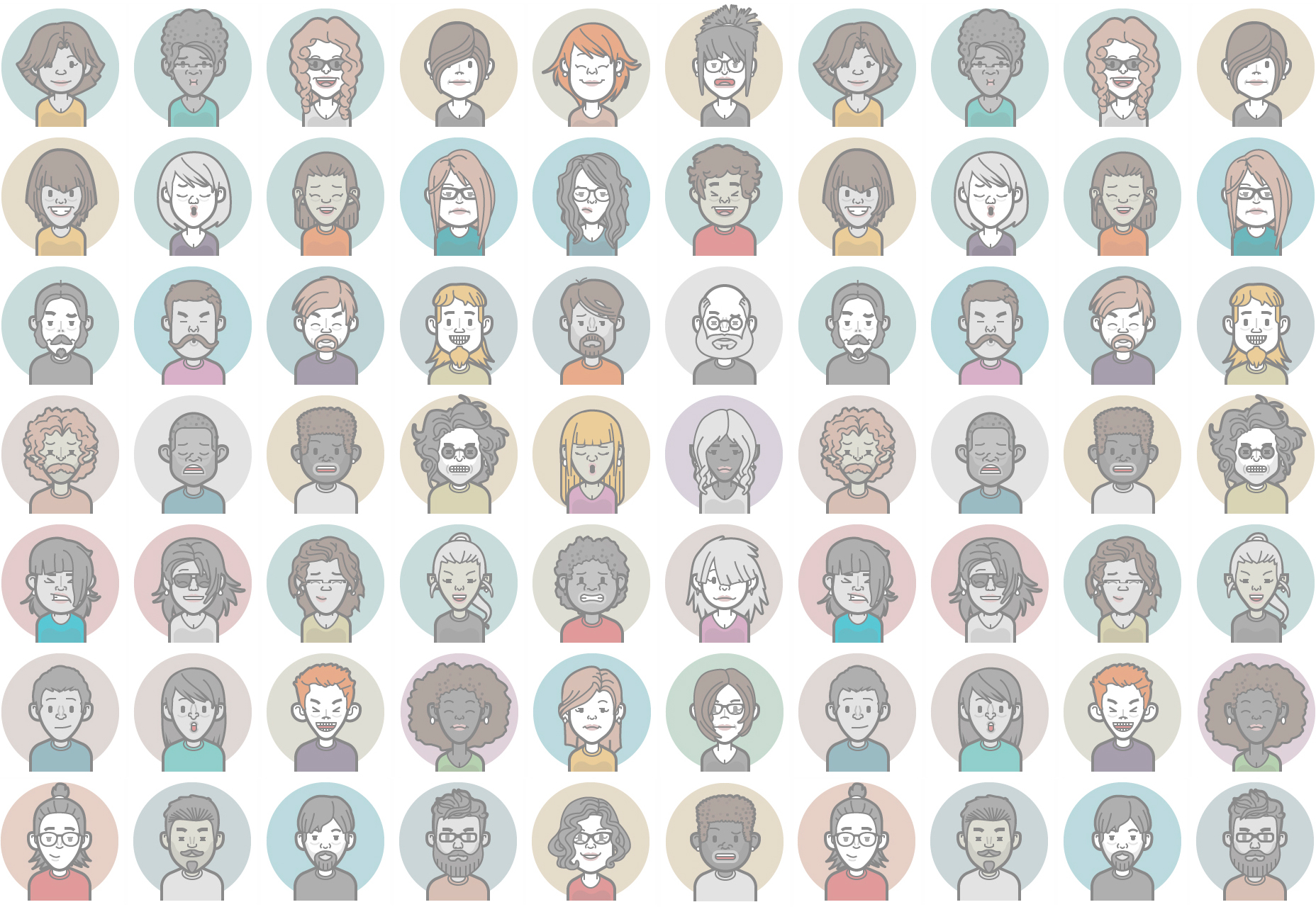 Vector Avatar Icons Generator