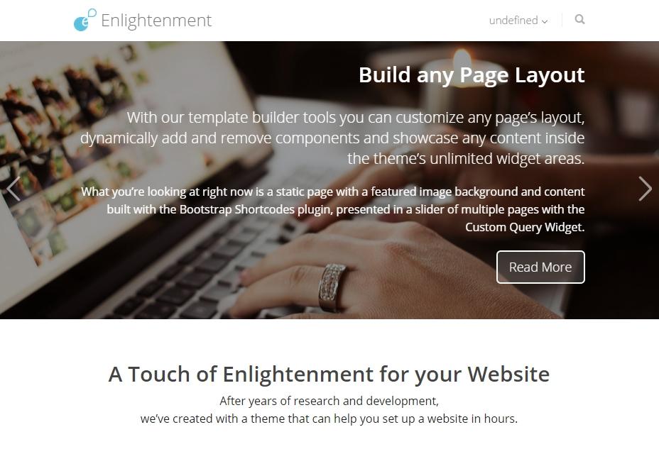 Enlightenment WordPress Theme