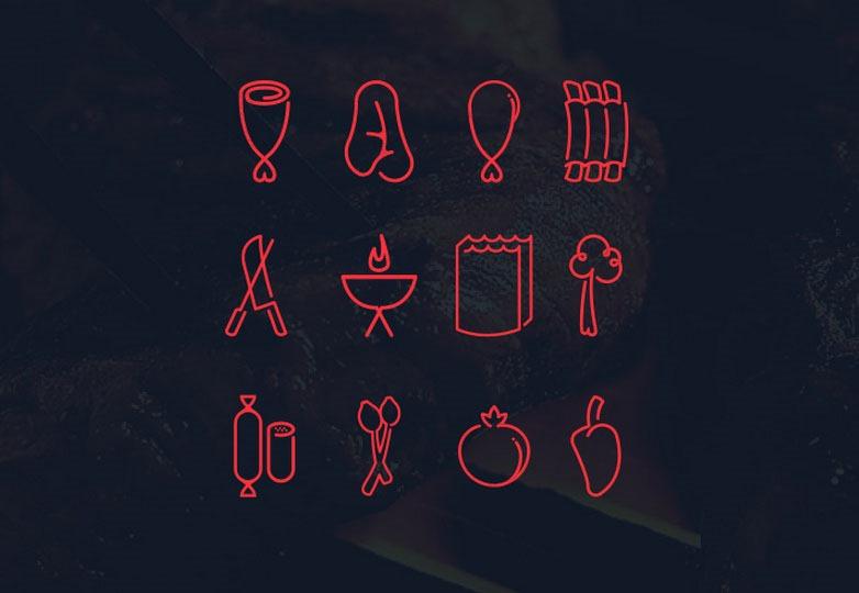 Centro carnes icons