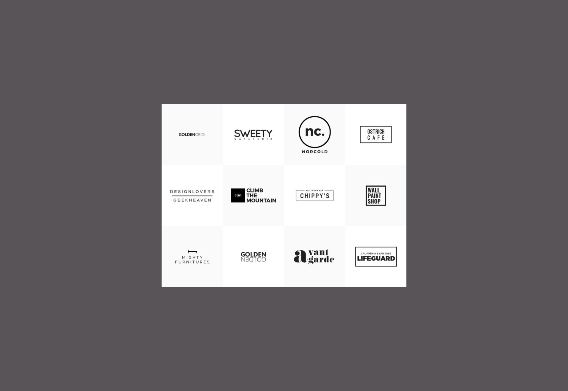 Plantilla de logotipo mínimo
