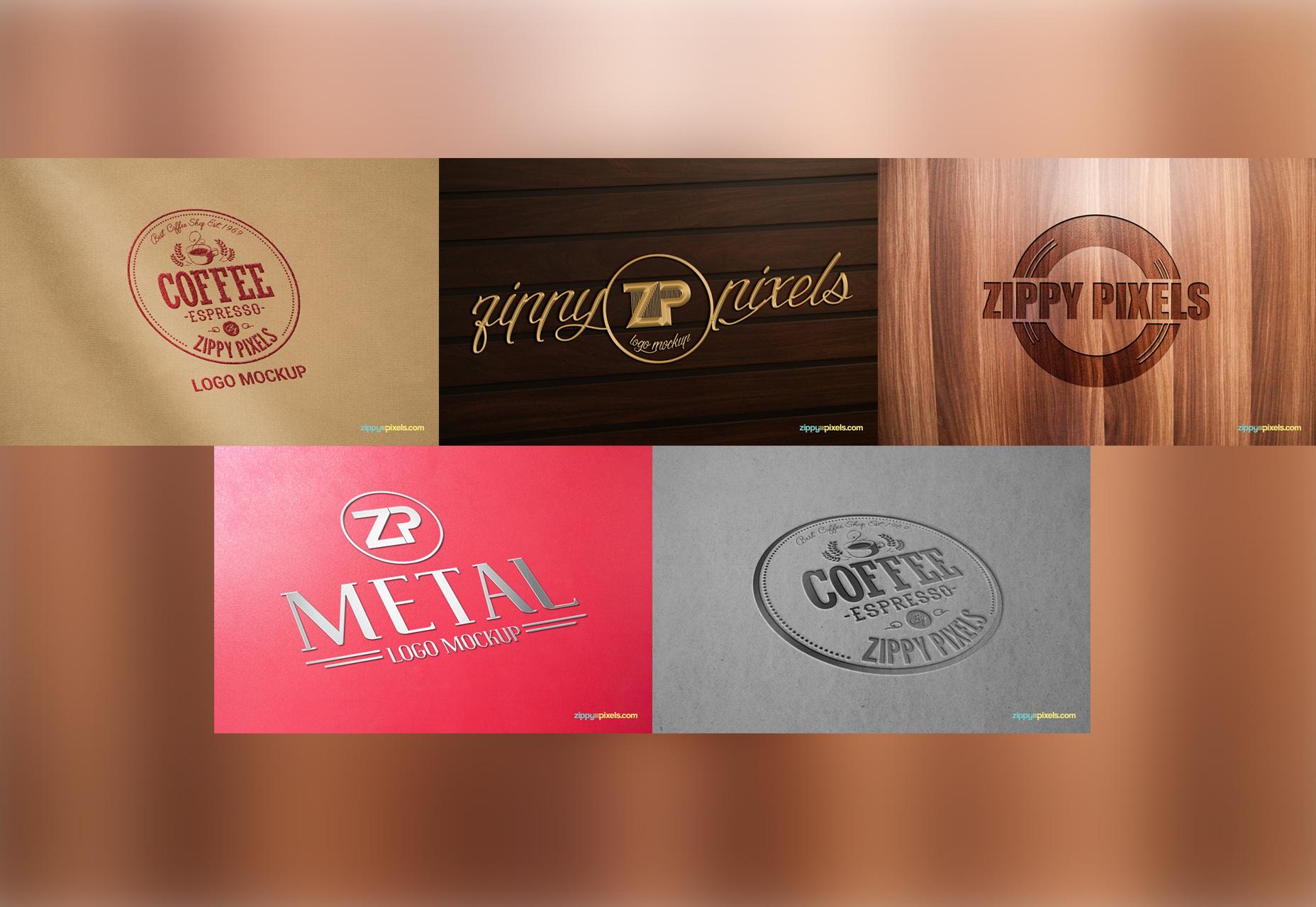 Essentiële gratis Mockup-collectie voor logo's