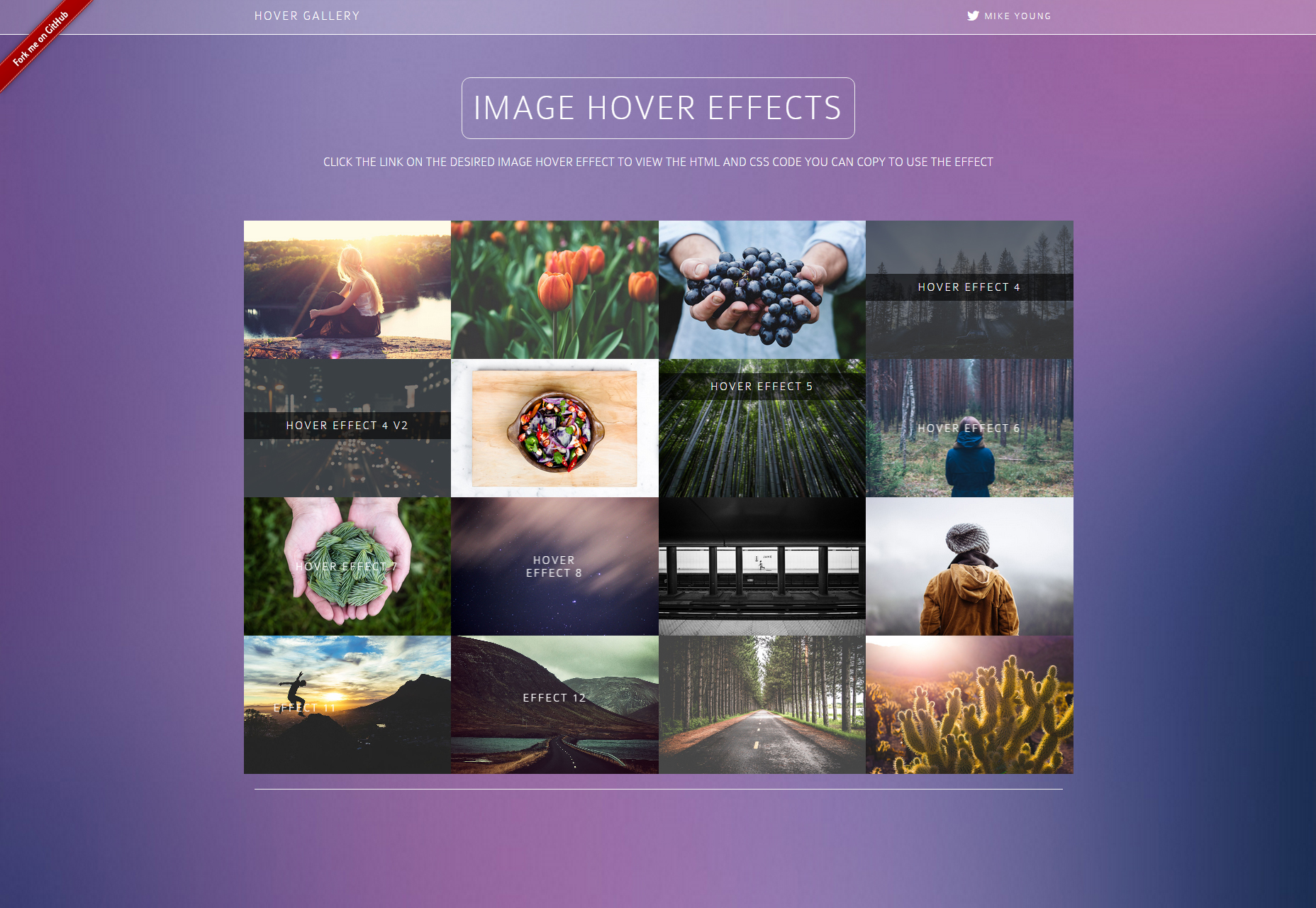 Bootstrap Image Hover HTML & CSS-effectengalerie
