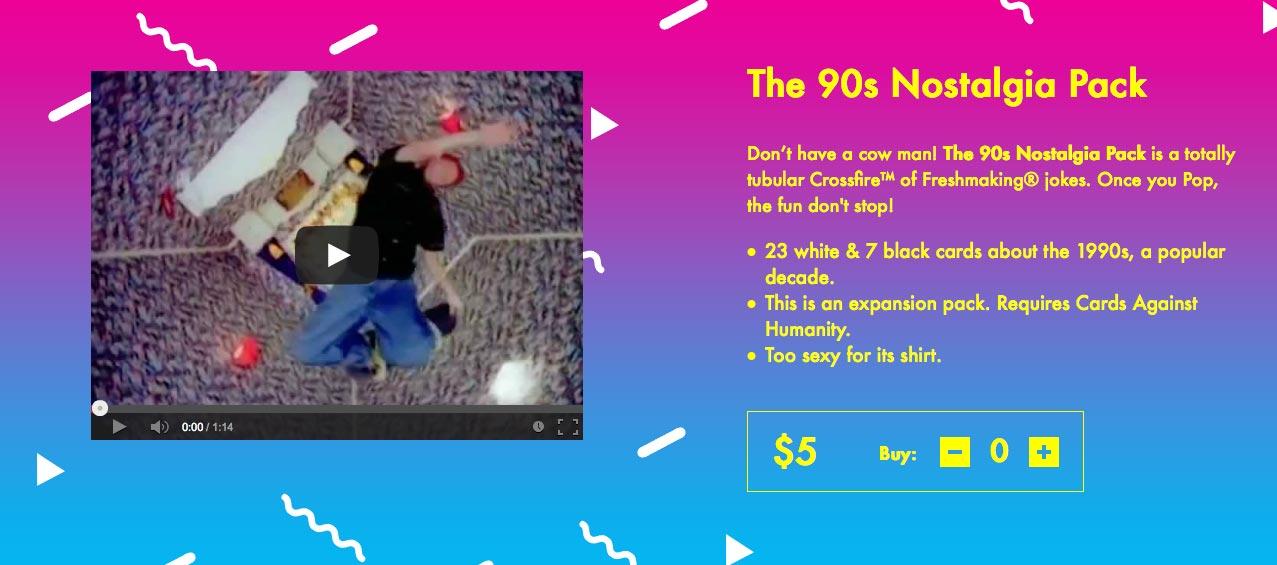 Pack de nostalgia de los 90
