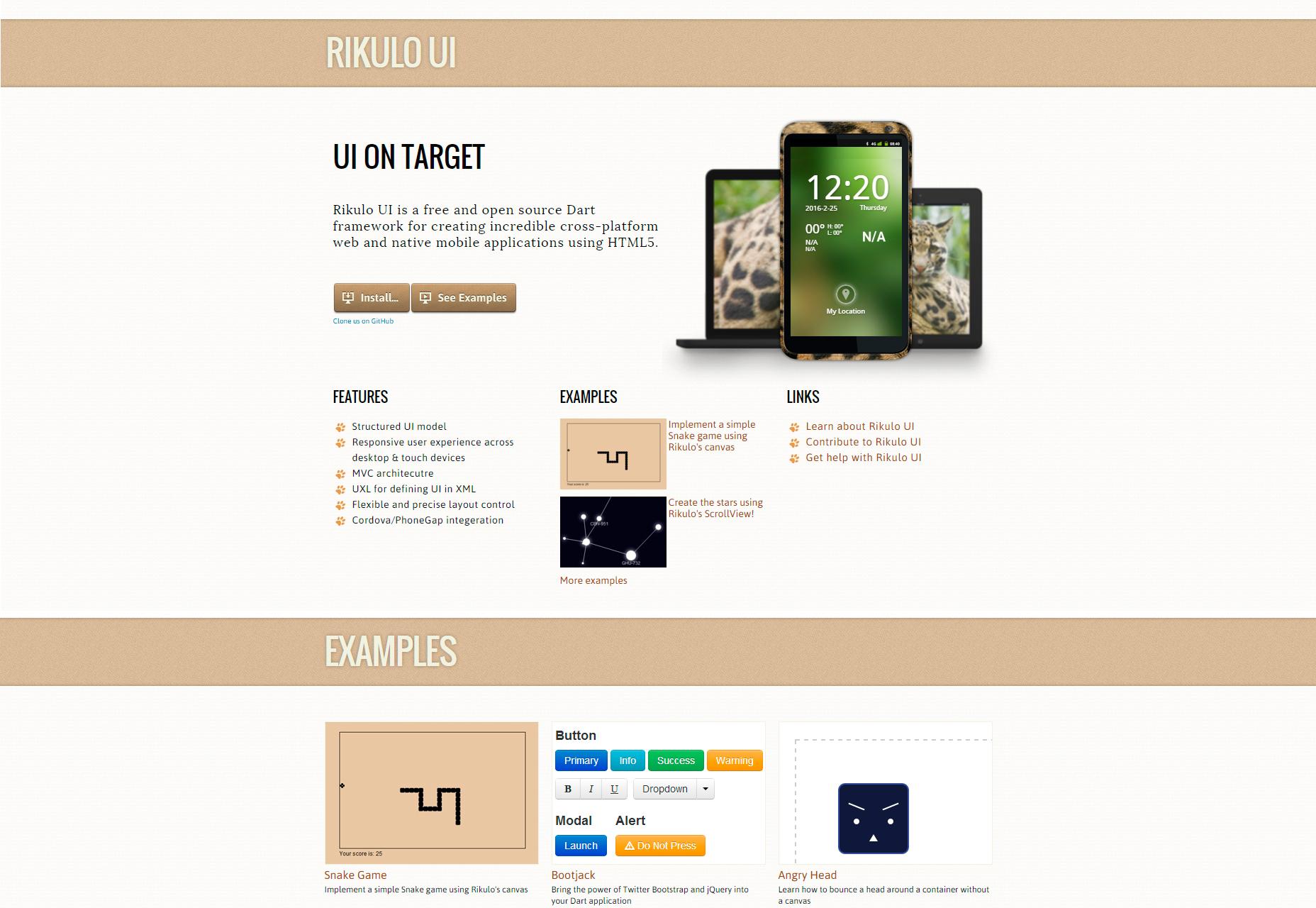 Rikulo: webová a mobilní šípková karta