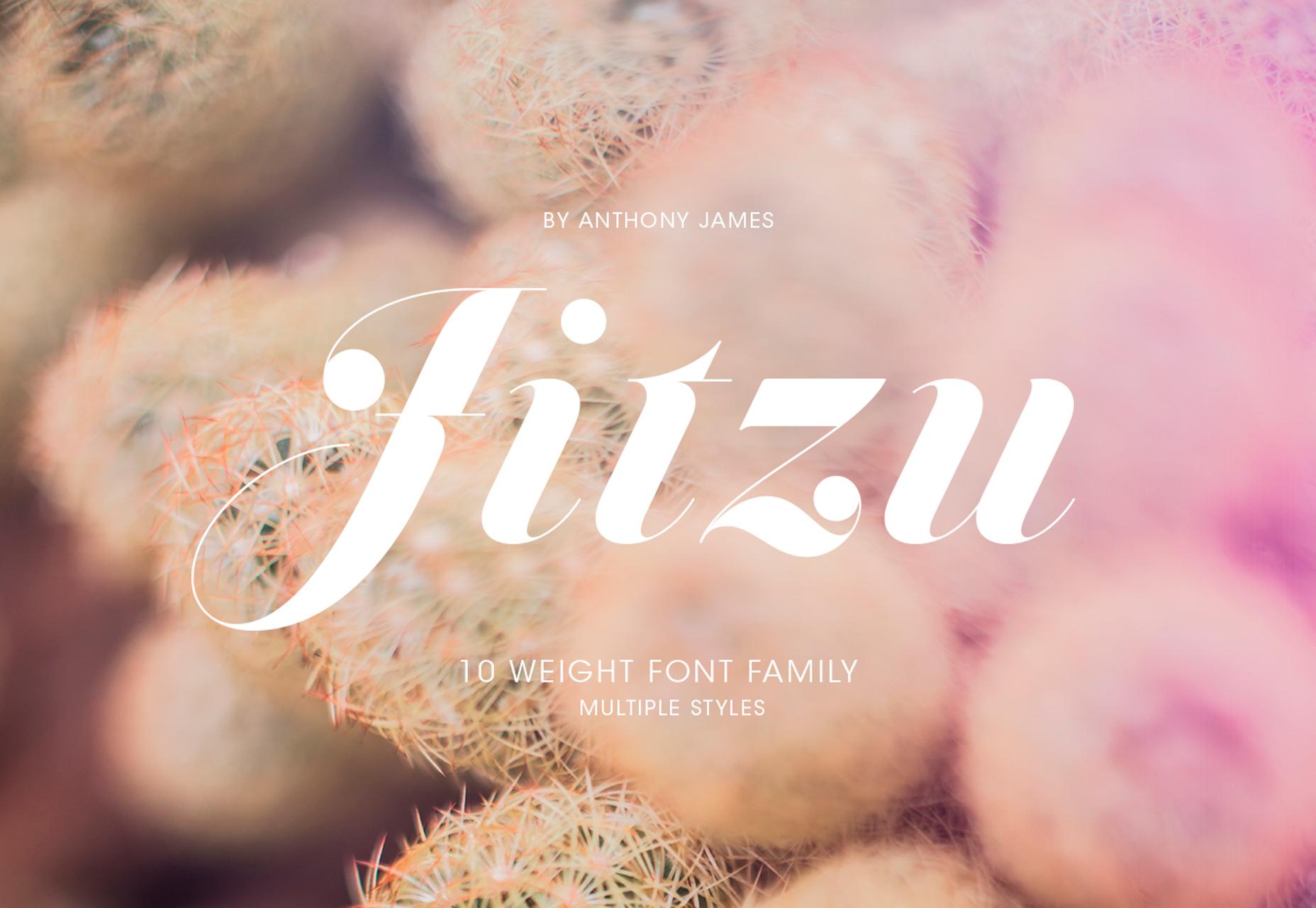 Jitzu: Fancy 10-painoinen Didone-kirjasintyyppi