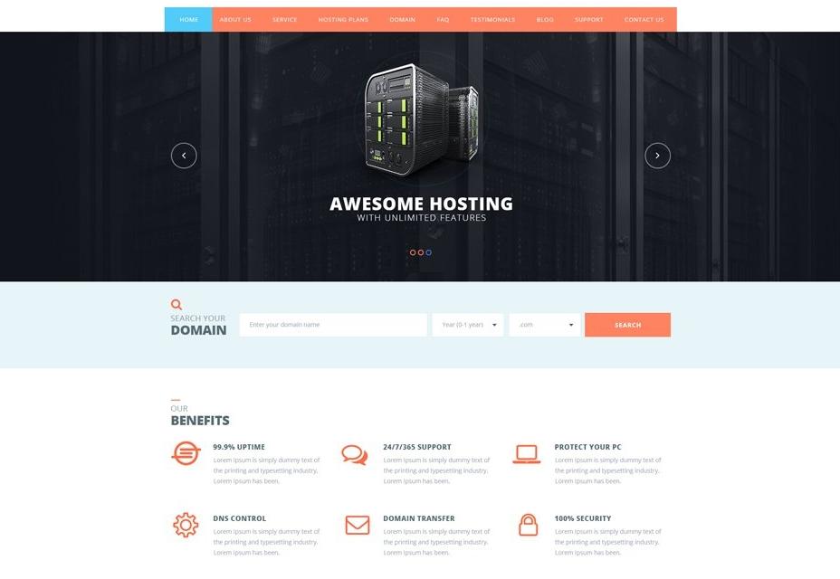 Hosting Web Template Designs