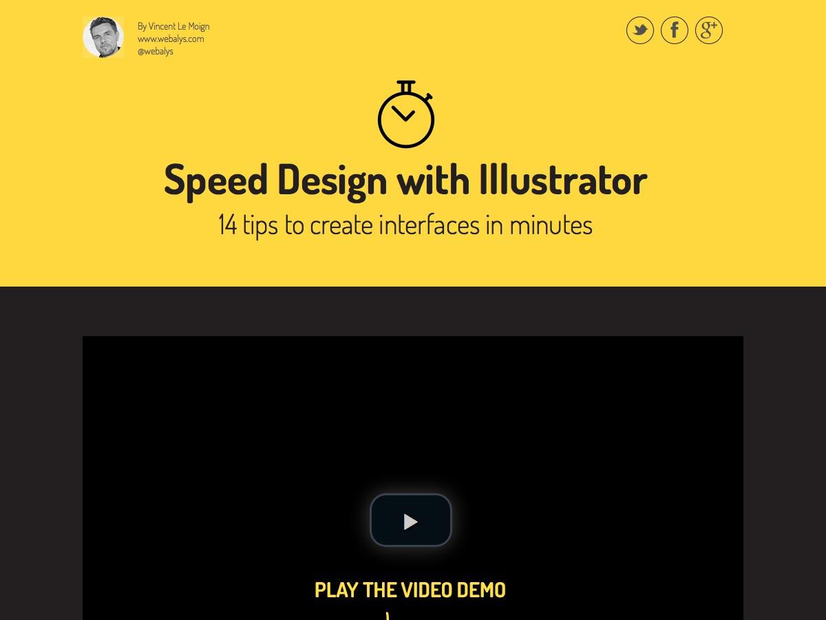 diseño de velocidad con illustrator