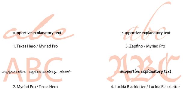 ejemplos de cómo los tipos de letra inapropiados causan problemas