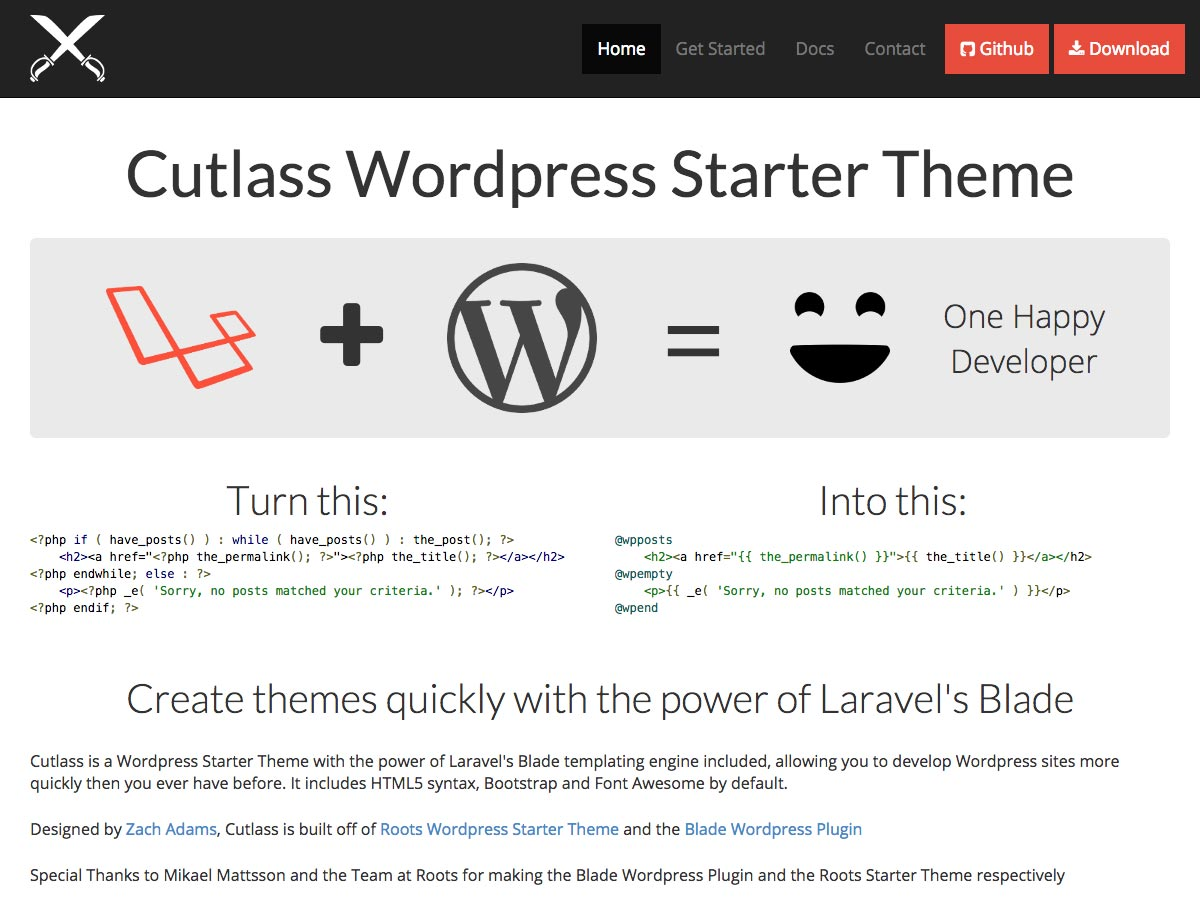 cutlass wp-startthema