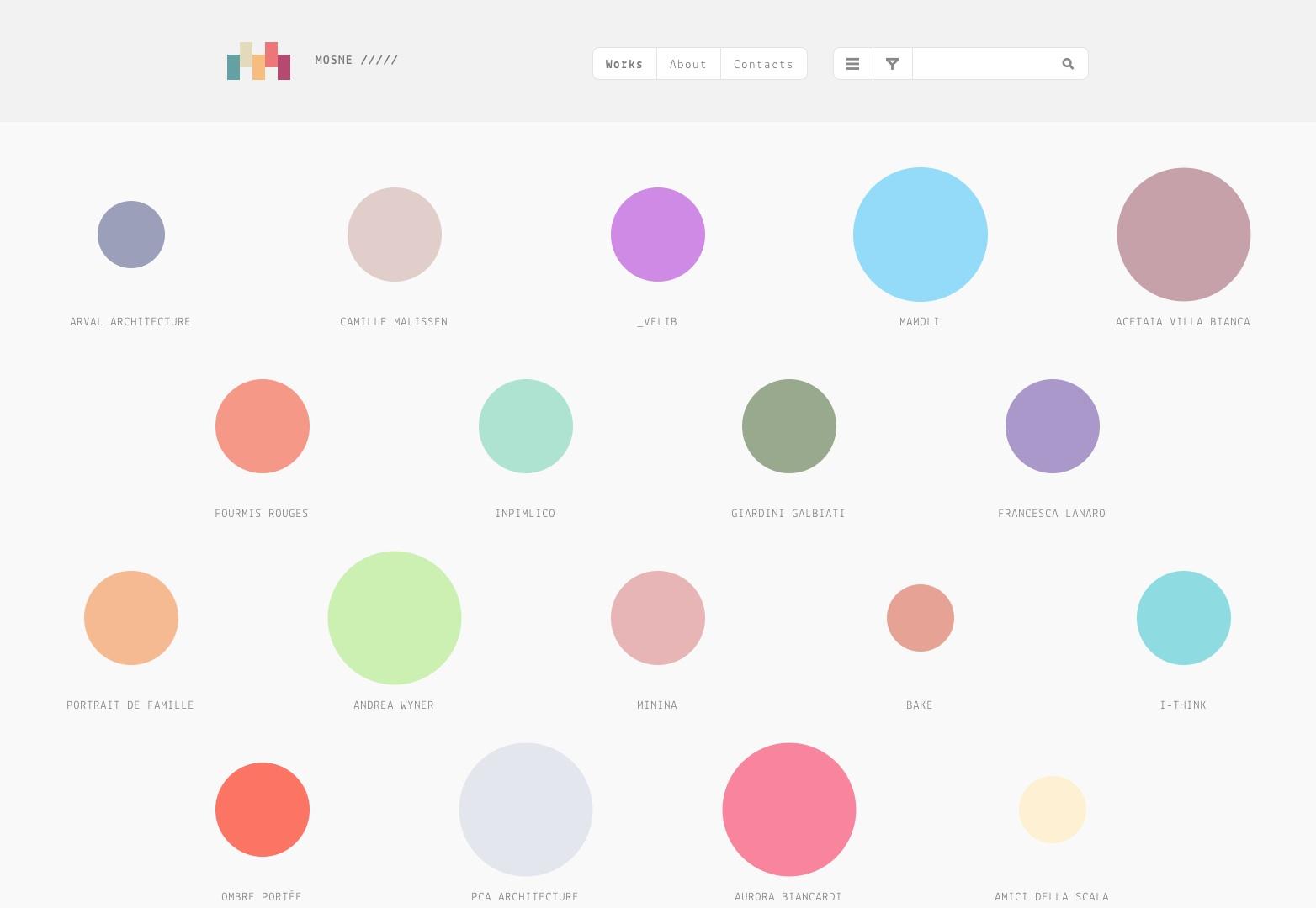 Mosne / Grafický design a webový design